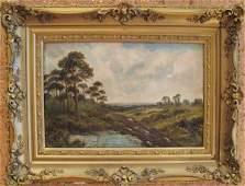 82 An E Cole 19th C Oil on Canvas