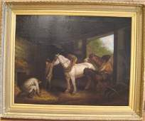 185: Geo. Morland (style of) Oil on Canvas