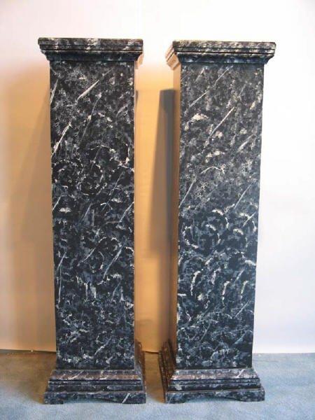 2: Pair Faux Marble Pedestals