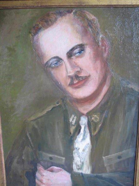 5: Oil on Board Military Figure