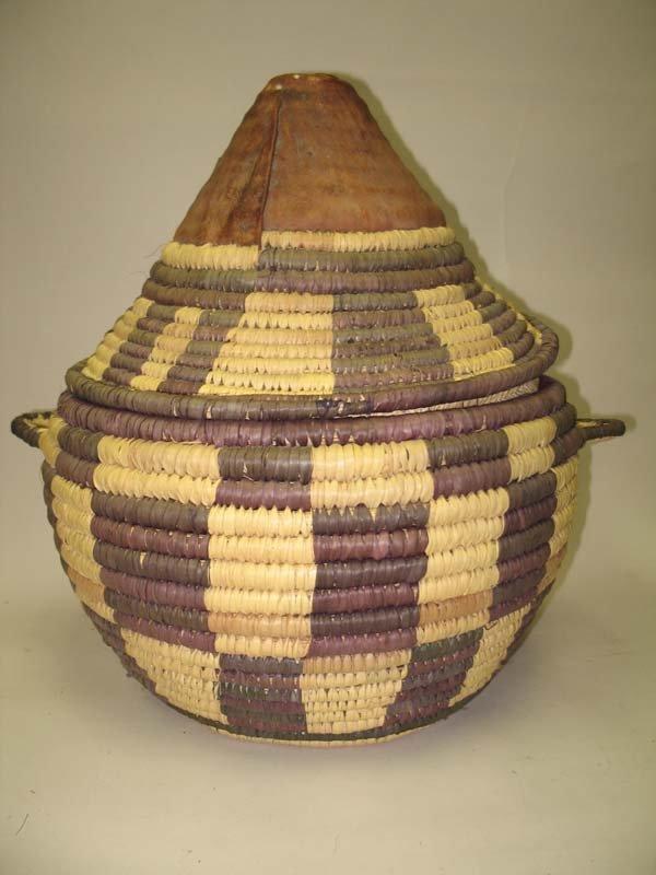 9: Large Samoan Lidded Basket