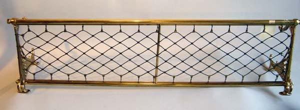 11: Brass Railroad Luggage Rack
