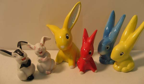 13: Hummel and Rosenthal Bunny Figures: