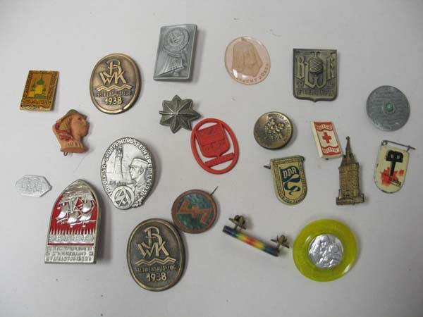 14: Lot of Russian and European Pins:
