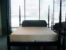 187: Mahogany King-size Poster Bed