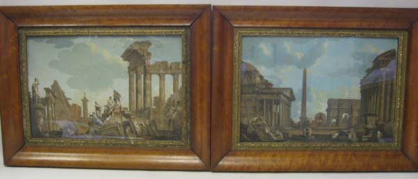 11: Two 18th C Hand Tinted Engravings: