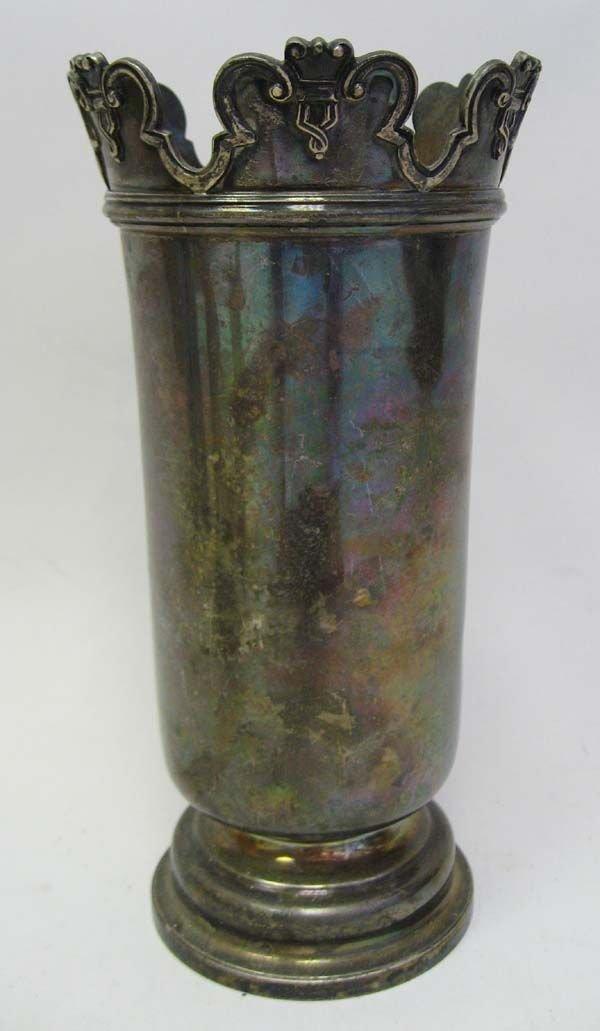 13: An Edwardian Sterling Vase