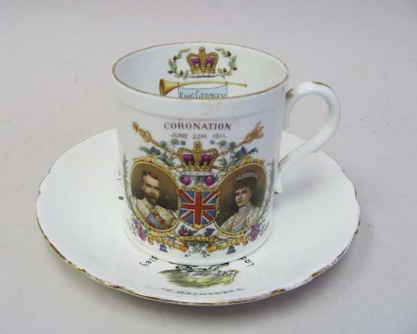 24: An English Presentation Cup and Saucer