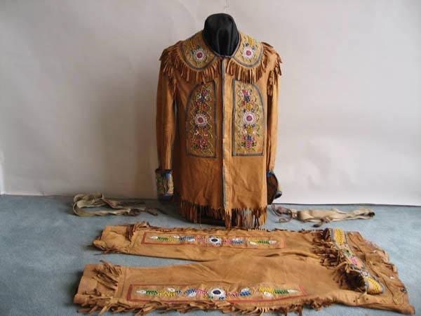 3: A 19th C Beaded Buckskin Jacket