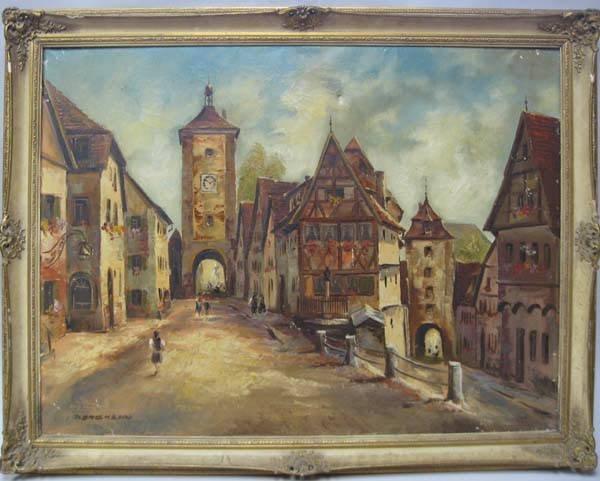 6: A Bergmann Oil on Canvas,