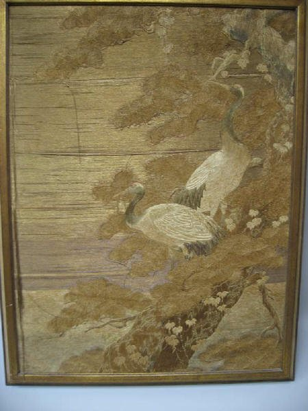 7: A Framed Asian Embroidery