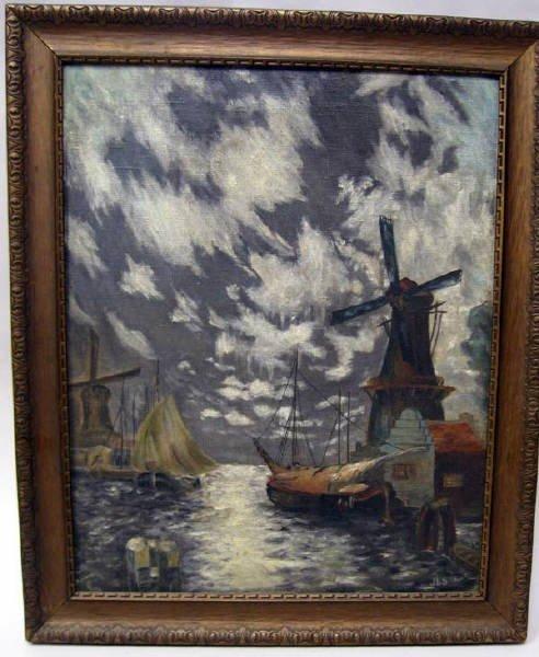 13: An Oil on Canvas,