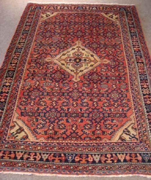 14: Semi-Antique Persian Hamadan Rug