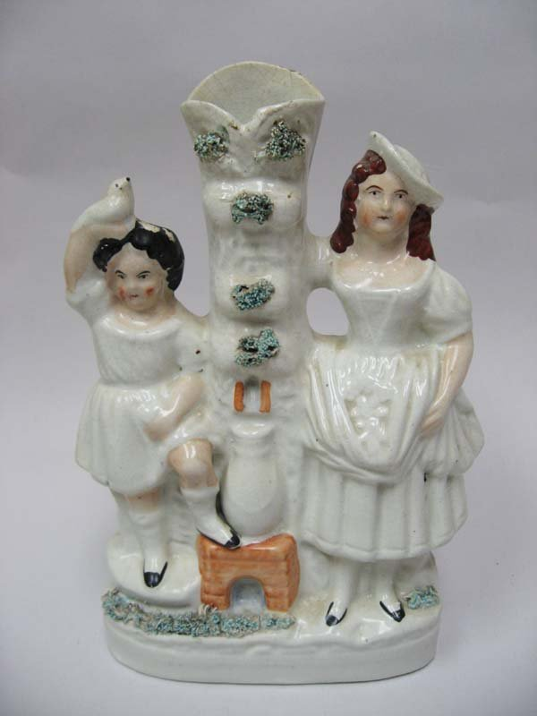 18: A Staffordshire Figural Spill Vase