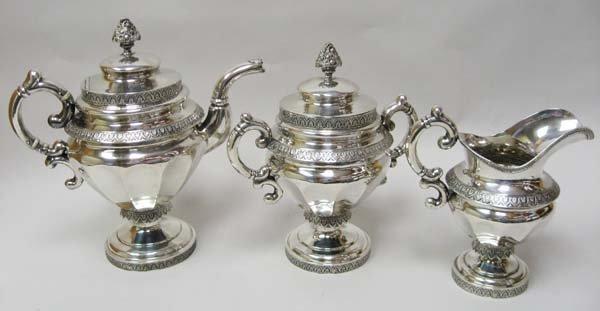19: A New York Coin Silver Tea Service