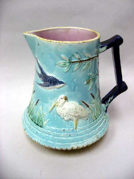 23: A Large Majolica Pitcher