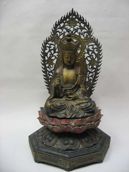 343: Sino-Tibetan Camphor Buddha in 3 parts.