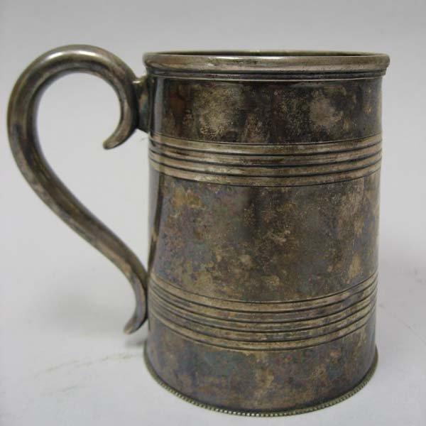 525: A 19th C Silver Cann,