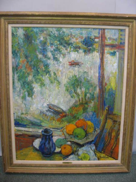 "1A: Richard Bellias oil on canvas ""Nature Morte aux"