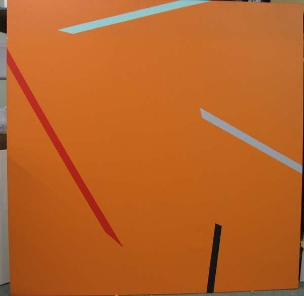 15A: Alan Cote acrylic on canvas untitled 1972