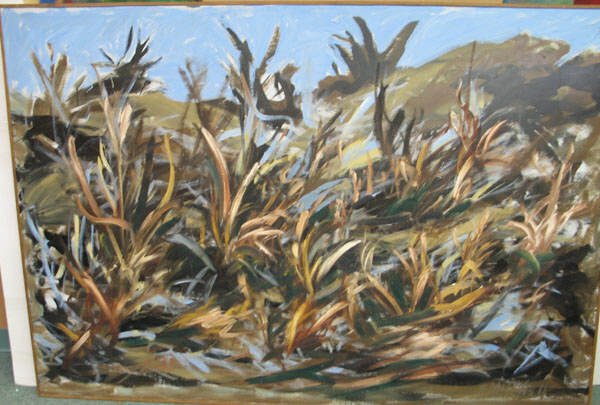 17A: Sue Mitchell oil on canvas.