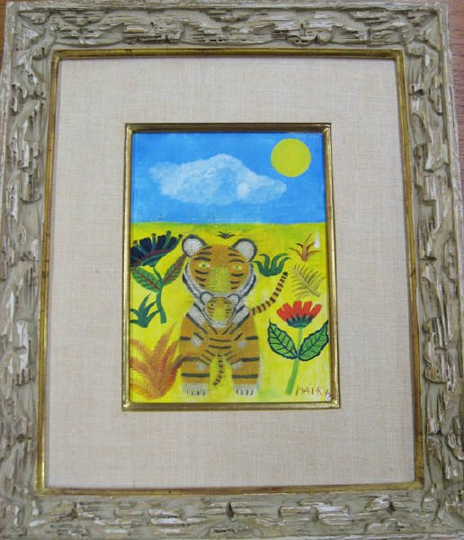 22A: Henri Maik oil on canvas of tiger