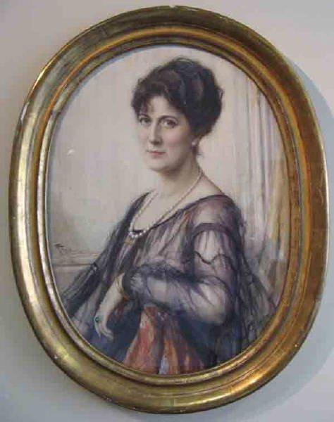7: A Fernand Toussaint Watercolor Portrait