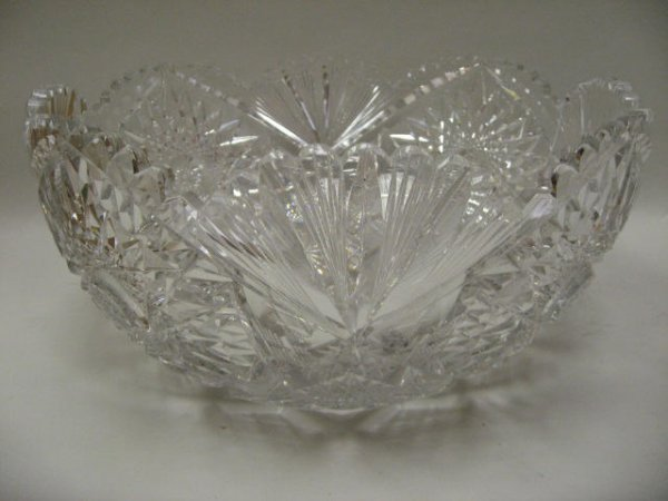 9: Libbey Cut Glass Punch Bowl