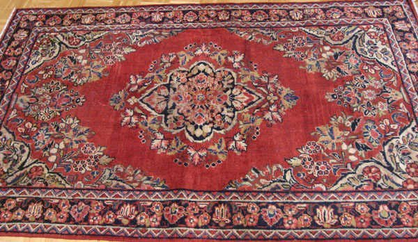 13: Semi-antique Persian Mahal Rug,