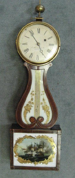 396: A 19th C E. Howard & Co. Banjo Clock,