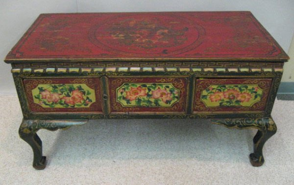 1: An Early Himalayan Table/Cabinet,
