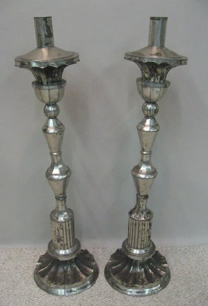 3: A Pair of Spanish Colonial Candlesticks,