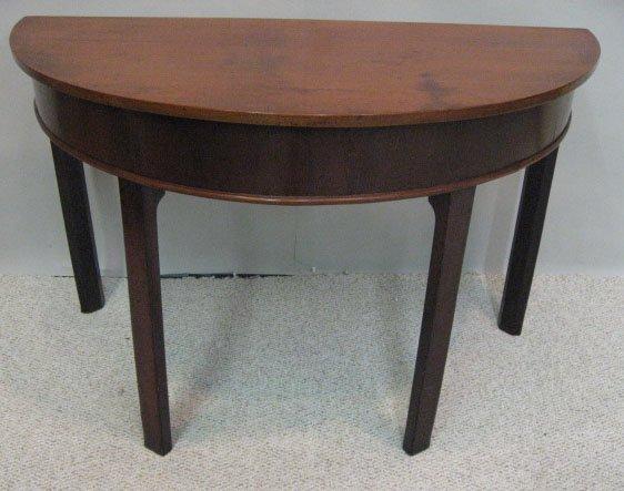 8: A L18th/E19th Demilune Table,