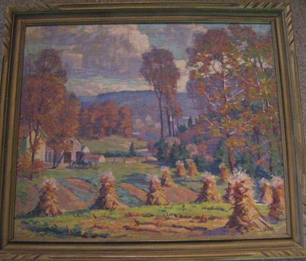 """11: Garnet W. Jex Oil on Canvas """"Autumn in Virginia"""","""