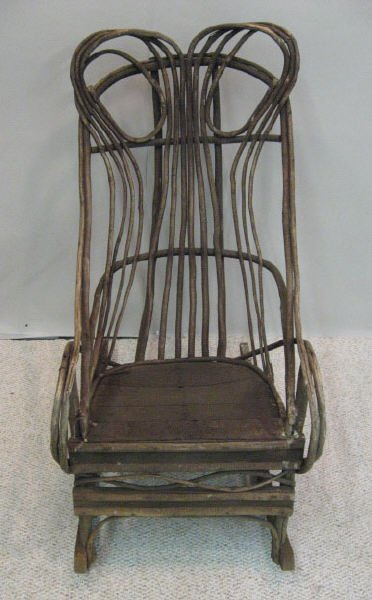 17: An Early Twig Rocking Chair,