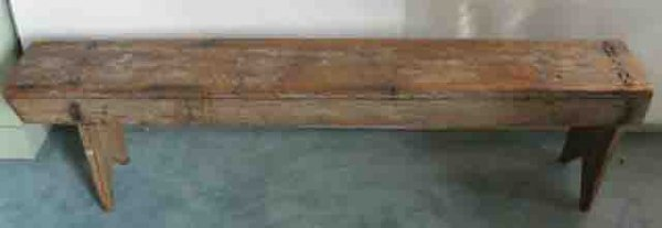 18: An Early Lancaster, PA Hewn Bench,