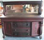 591: An Empire Revival Mahogany Sideboard