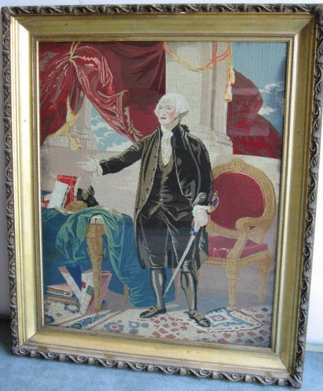 7: A George Washington Needlepoint Picture,