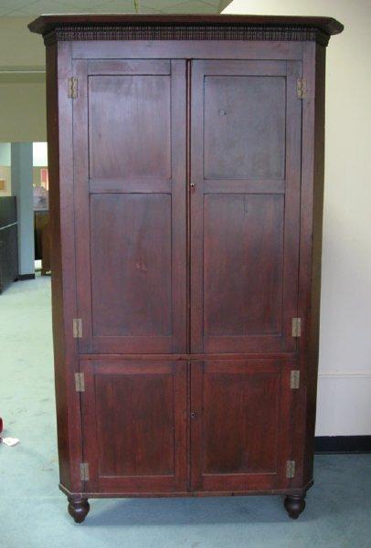 8: A 19th C Mahogany Corner Cupboard,