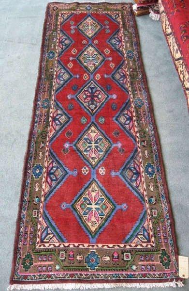 13: Persian Hamadan Rug Runner,