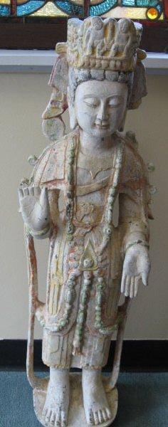 15: A 19th C Standing Quan Yin,