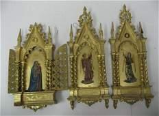207: Three Italian Gilt Tabernacle Frames,