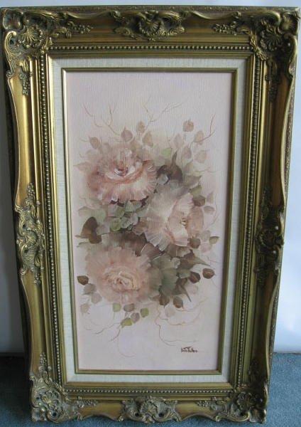 210: Dottie Telles Oil on Canvas of Flowers