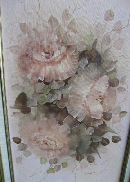 210: Dottie Telles Oil on Canvas of Flowers - 2