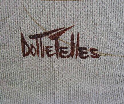 210: Dottie Telles Oil on Canvas of Flowers - 3