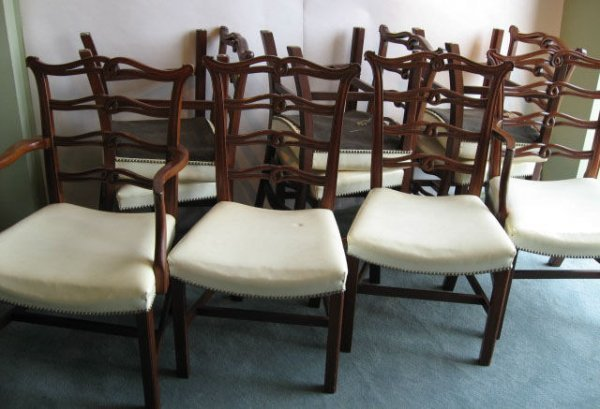 400: Ten Suter's Dining Chairs,