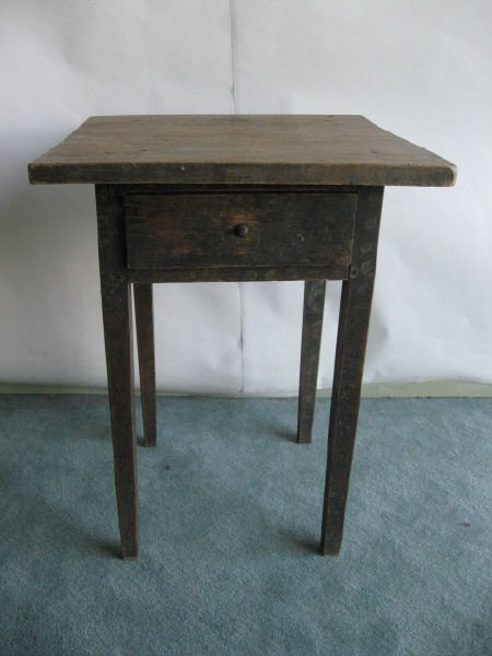 2: A Page County, Va. Painted One Drawer Stand,