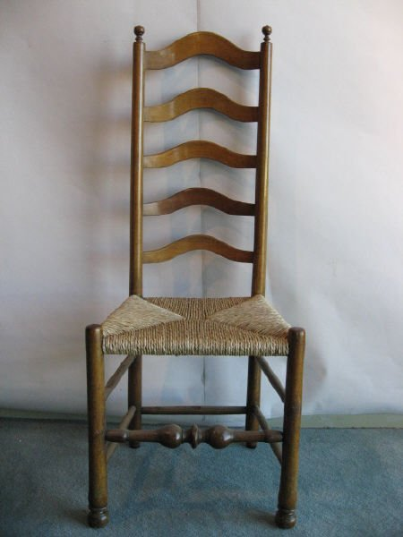 3: An 18th C Delaware Valley Ladderback Chair,