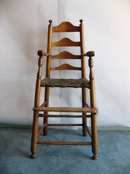 4: A L 18th C Maple Youth Chair,