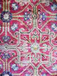 5: An Antique Silk Chinese Rug,
